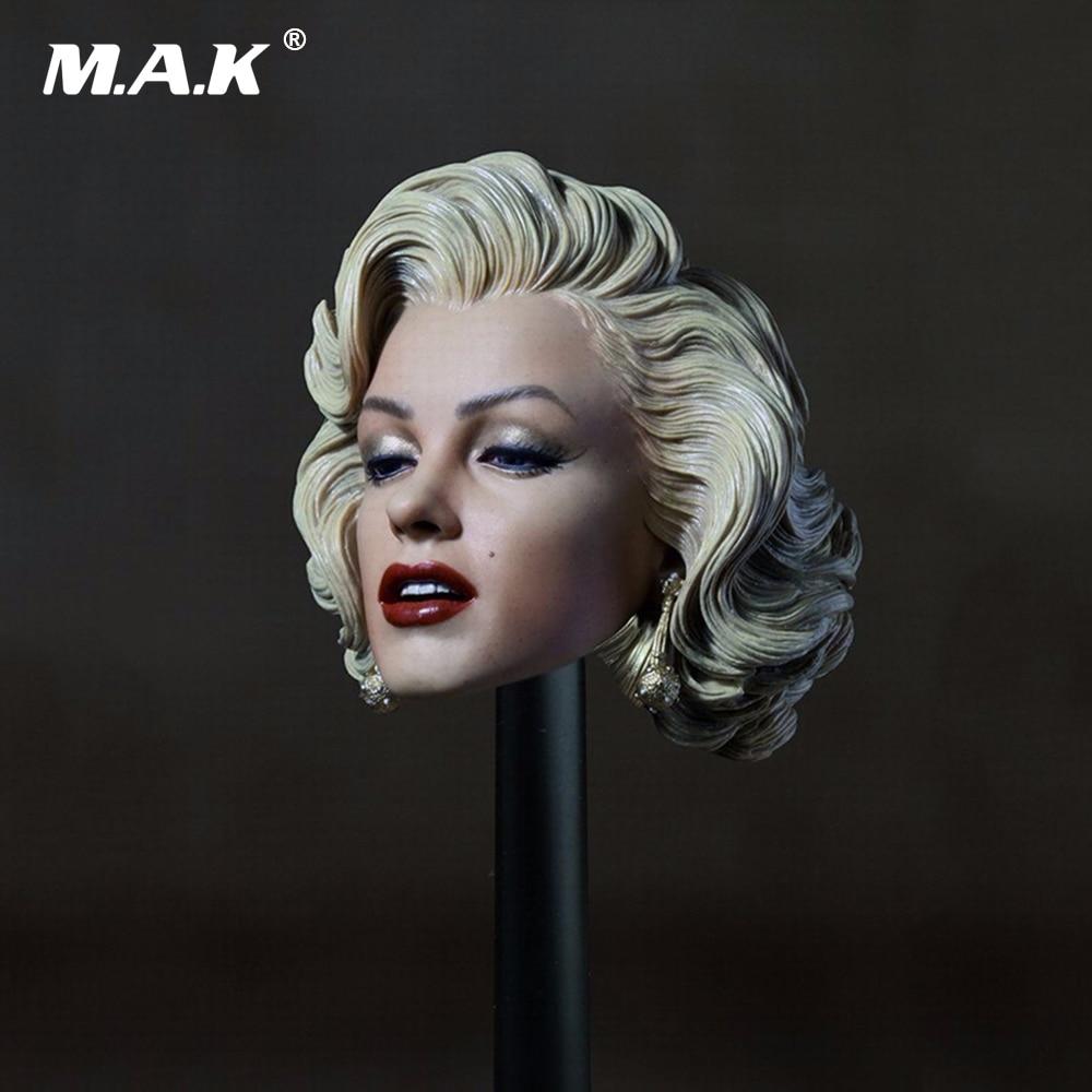 1:6 Scale Female Head Marilyn Monroe Europe Beauty Head Carving Model Gentlemen Prefer Female Head for 12 Inches Figure Body