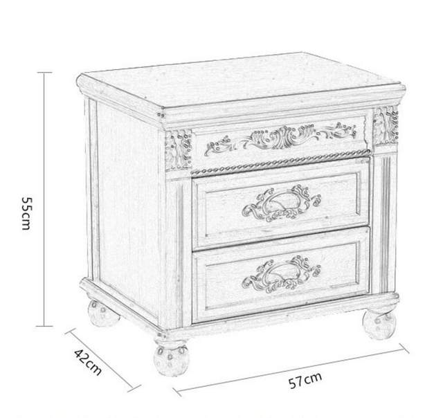 Online Shop Bedside cabinet is simple, modern solid wood equipped ...