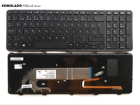 IT Italian Keyboard For HP Probook450 G0 450 G1 455 G1 470G1 450 G2 455 G2 470 G2 Black With Frame Backlit Laptop Keyboard IT