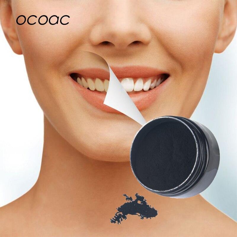 Отбеливание зубов 30 г порошок дым кофе чай пятно удалить активированный уголь Бамбук порошок гигиена полости рта уход за зубами