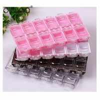12 rejilla de moda decoración de acrílico para uñas independiente caja de almacenamiento Organizador caja contenedor HERRAMIENTA DE MANICURA