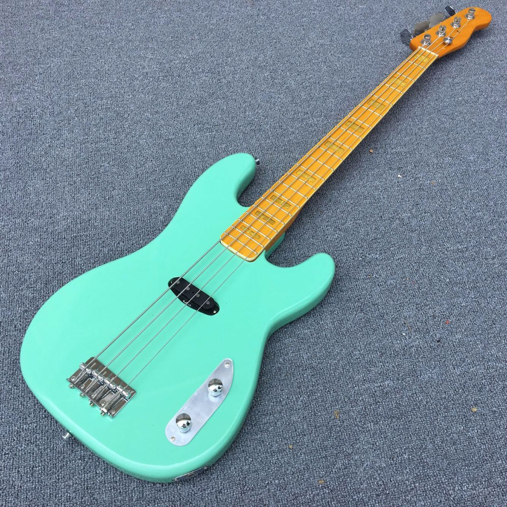 2017 New Arrival High Quality 4 Strings Tele Bass Guitar Surf Green Tele Telecaster Bass The