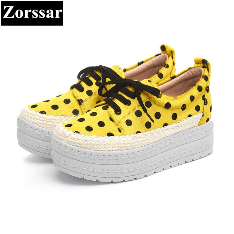 {Zorssar} 2017 New Fashion Genuine leather Horsehair Women Flats Casual shoes Womens Platform loafers Slip On Flat Female shoes de la chance women fashion platform shoes genuine leather slip on casual shoes loafers flatform wedge shoes skate ladies shoes