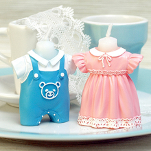Children's Birthday Party Decoration Birthday Candle Creative Princess Cake Decoration Baby Skirt Dress Boys Girls Candle Sets