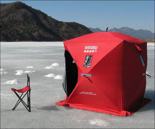 Ice Fishing Chair Shelter Travel High Eskimo Quickfish 2 Pop Up Portable In Tents From
