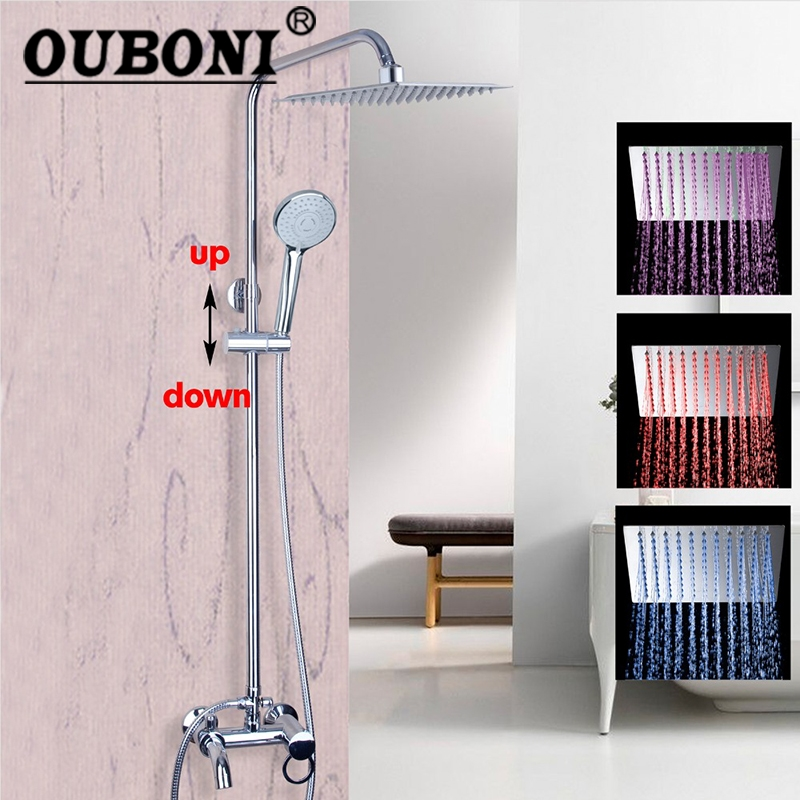 Wall Mounted Rain Shower Set Luxury Square Shower Head 8 Shower Set with Hand Shower And Control Valve wall mounted rain shower set luxury square shower head 8 shower set with hand shower and control valve