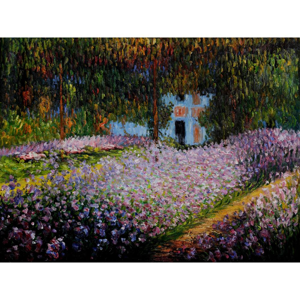 Peintures à l'huile peintes à la main Claude Monet toile artistes jardin à Giverny haute qualité décor à la maison