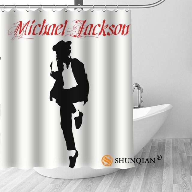 2 Michael jackson shower curtain washable thickened 5c64f7a44eda9