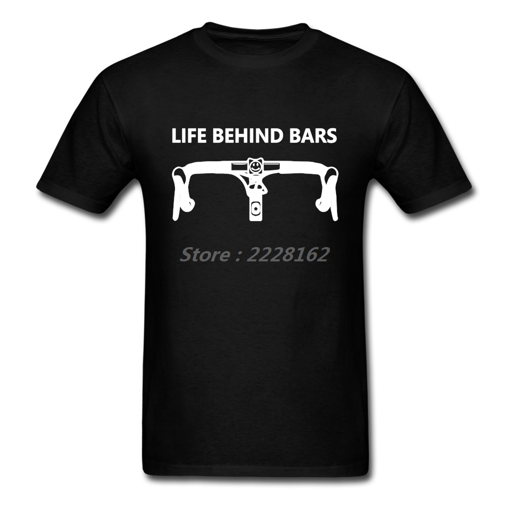 Classic Collar Men Punker T Shirts Life Behind Bars Good Bicycles Camisetas For Family Shirt Male Tops