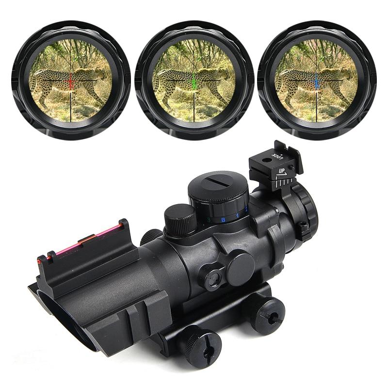 4x32 Acog Riflescope 20mm Milano reflejo óptica alcance táctico vista para la caza Rifle pistola Airsoft francotirador lupa