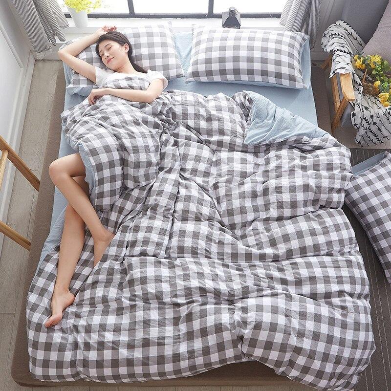 Plante fleur bleue 3D Polyester literie ensemble de housse de couette ensemble drap de lit taie d'oreiller lit vêtements reine taille