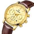 Cadisen principais homens de relógios de luxo da marca men quartz hour analog chronograph sports watch men ouro relógio de pulso relogio masculino