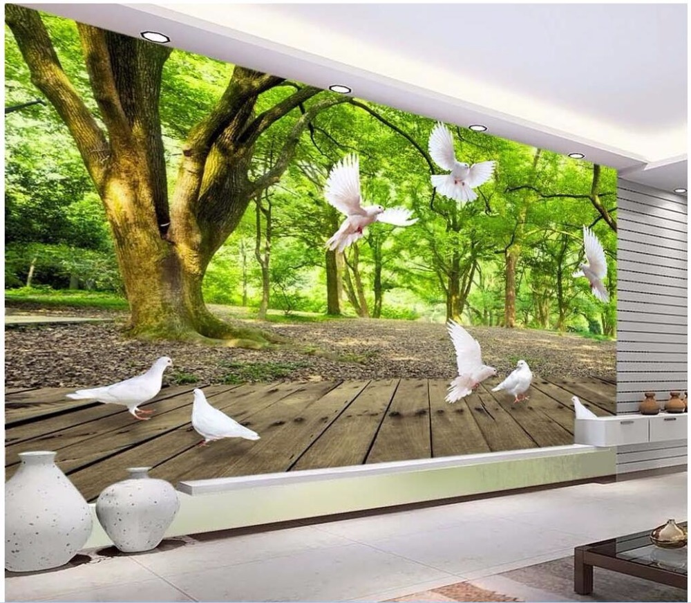 online buy wholesale summer wallpaper from china summer wallpaper 3d wallpaper custom photo summer forest play pigeons room decoration painting picture 3d wall murals wallpaper