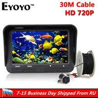 Eyoyo 30m 720P Professional Underwater Ice Fishing Camera Night Vision Fish Finder 6 Infrared LED 4