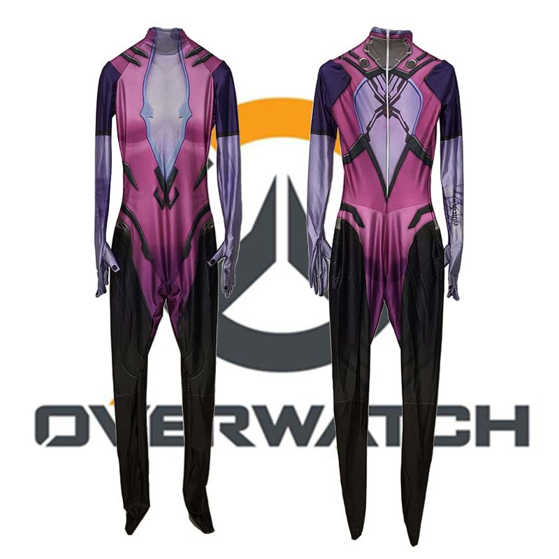 OW cosplay Amelie Lacroix widowmaker cosplay costume Halloween costumes for women Adult sexy widowmaker jumpsuit custom made 3D