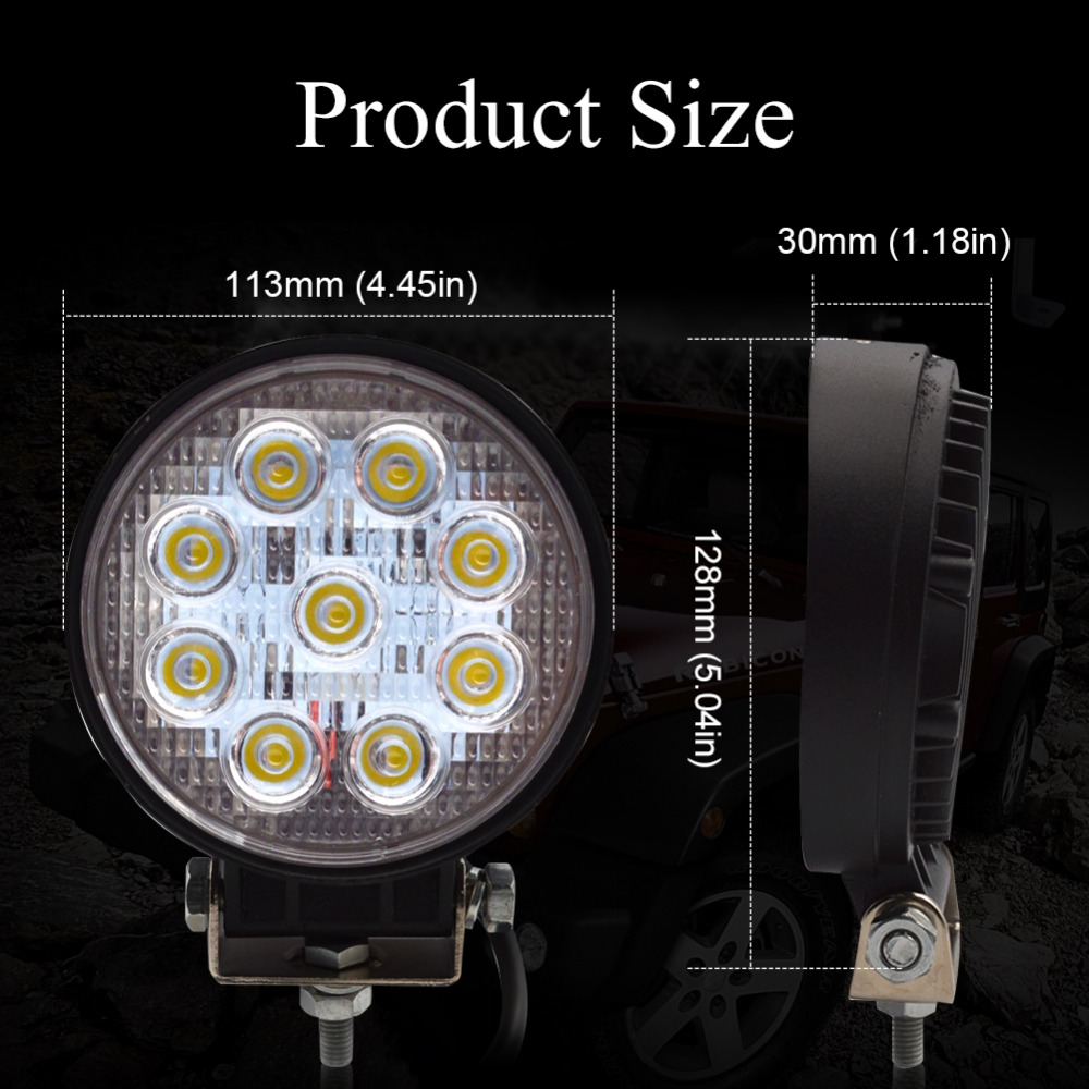 10x Safego 4inch 12v 24v 27W led ledlight light spot ջրհեղեղ - Ավտոմեքենայի լույսեր - Լուսանկար 2