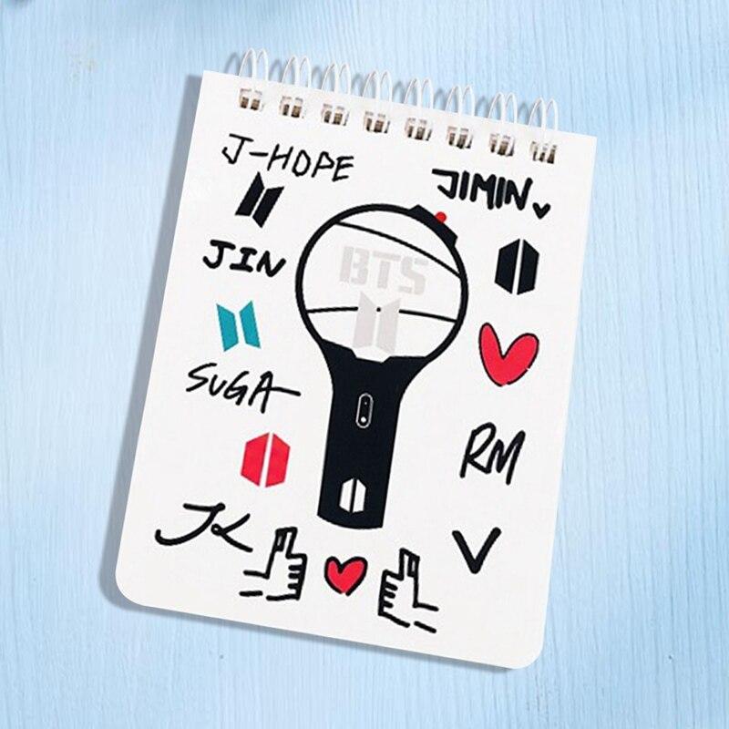 1 Stück Bangtan Boys Pvc Abdeckung Tagebuch Travel Journal Buch Jimin V Cartoon Notebook Kpop Bts Offizielle Koreanische Sterne