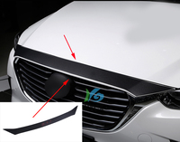 1pcs carbon fiber PU leather 2015 2016 2017 2018 for Mazda CX 3 CX3 CX 3 car stickers car accessories Automobile car front cover