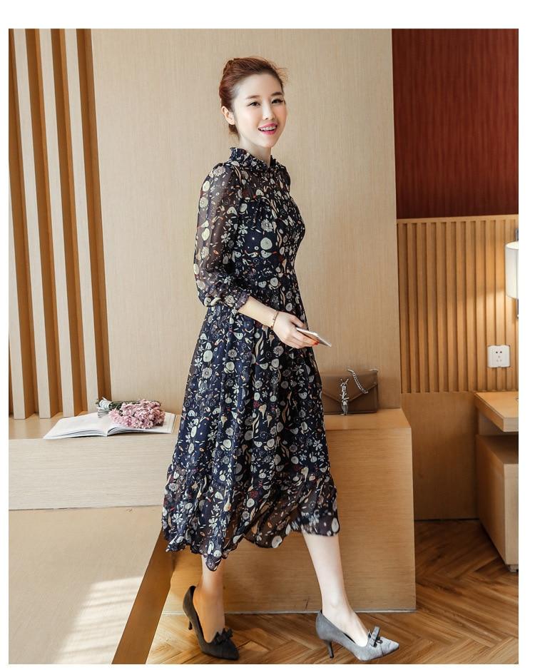 b510ca76651d8 Maternity dresses 2018 Spring and summer New Korean Fashion Chiffon Long  Sleeve Floral Pregnant Woman Dress pregnancy clothes - aliexpress.com -  imall.com