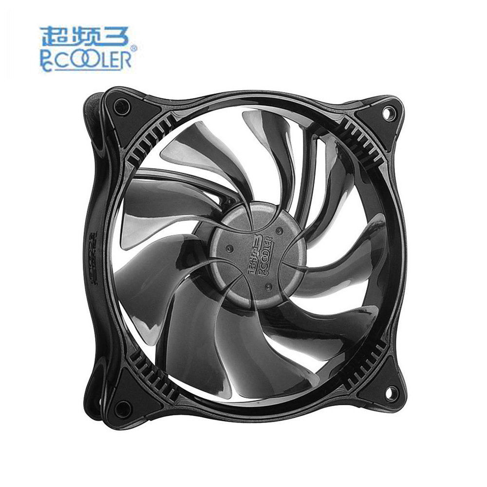 PCCOOLER CPU Cooler LED RGB Dimmable Fan 12cm computer Case Cooling Fan Quiet 3 pin 2.4 power 45CFM computer chassis Cooler del 60mm pc cpu cooling fan 12v 3 pin computer case cooler quiet molex connector mar09
