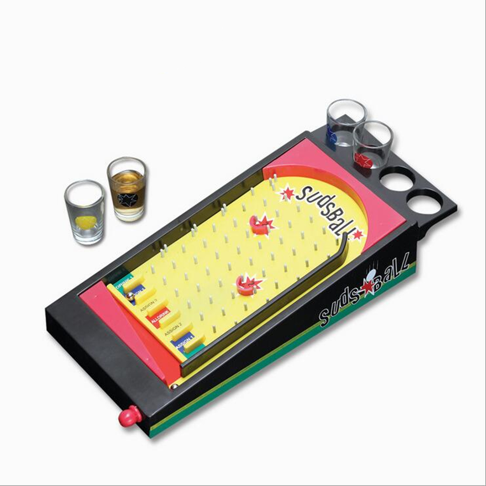 ФОТО Board Game Classical Drinking Party Game, Pinball Drinking Game Set, Shot Glass Set, Sudsball Game