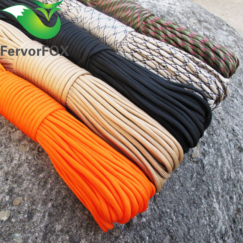 33FT (10M) Paracord Parachute Cord Lanyard Rope Mil Spes Spec Type III 7 Strand Climbing Camping survival equipment