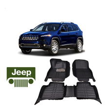 free shipping waterproof fiber leather car floor mat carpet rug for jeep cherokee KL 2014 2015 2016 2017