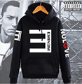 2017 autumn winter Eminem Hoodie Reverse E Hip-hop Thicken Coat Fashion Sweatshirt tracksuit Men's Clothing drake fleece Hoodies