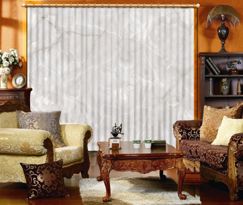 Custom Marble Long Curtain For The Living Room Bedroom Curtains Window Three-dimensional Decoration