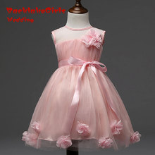 High Quality 2017 Elegant YIYI Flower Girl Dresses Sequined Bow Long Princess Party Pageant first communion dresses FD010
