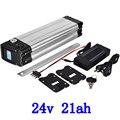 Бесплатная таможенная плата 24В 500 Вт Батарея для велосипеда 24В 21ач ионная батарея для samsung с 30A BMS и 2A зарядным устройством
