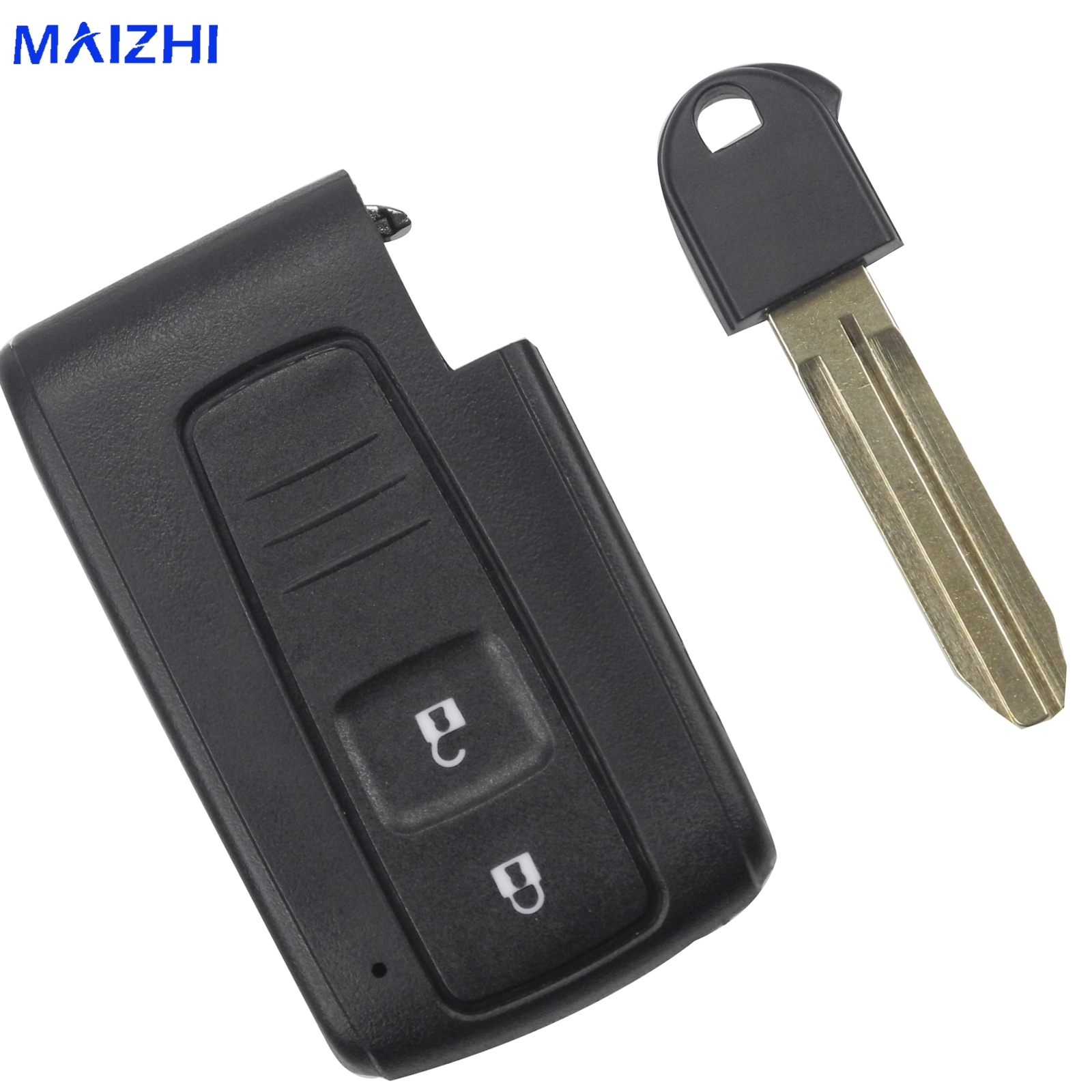 2 Buttons Remote Car Key Smart Card Shell for TOYOTA PRIUS COROLLA