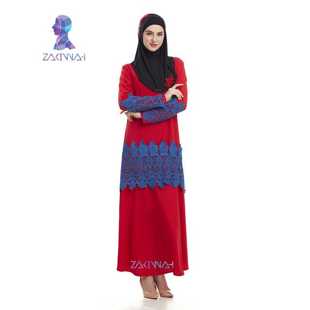 Arabic fashion clothes lace long abayas for women turkish abaya islamic clothing new plus size muslim dresses in malaysia