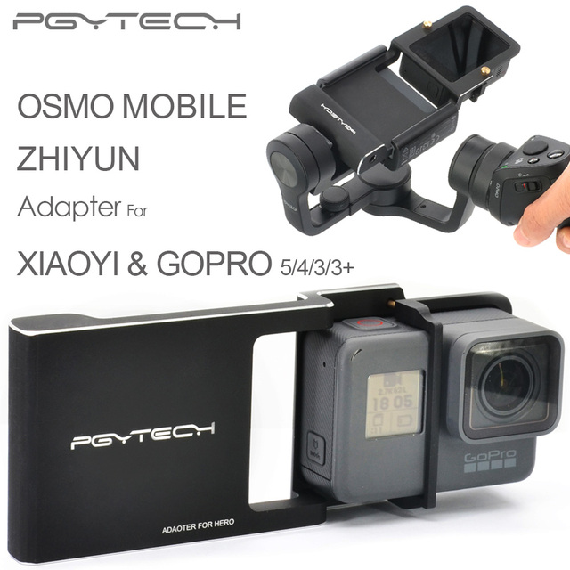 PGYTECH Adapter for osmo mobile zhiyun Gopro Hero 5 4 3 + xiaoyi accessories switch mount plate gimbal Camera drone parts