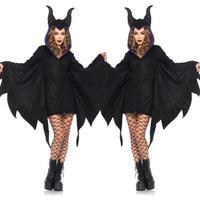 2017新しいハロウィンセクシーなヴァンパイア衣装女性ブラック悪バット衣装服ハロウィンを果たしているヴァンパイア衣装