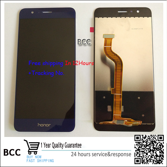 Original quality Gold white black blue For huawei honor 8 Original Touch Screen Digitizer LCD display