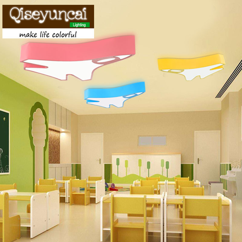 New feet colorful LED ceiling lamp creative cartoon personality early swimming, mother child Pavilion childrens room lighting