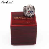Manufacturers Quick Delivery 2004 UK Patriot Champion Ring Replica High Quality Men S Ring Wooden Box
