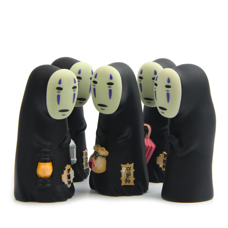 Ghibli Spirited Away Faceless Vinyl Action Figure Miyazaki Hayao Anime Kaonashi Model  Decoration Doll Kids Toys