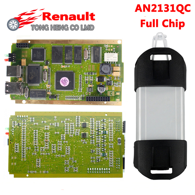 For Renault Can Clip Full Chip CYPRESS AN2131QC V168 OBDII Auto Diagnostic Interface CAN Clip For Renault Code Scanner