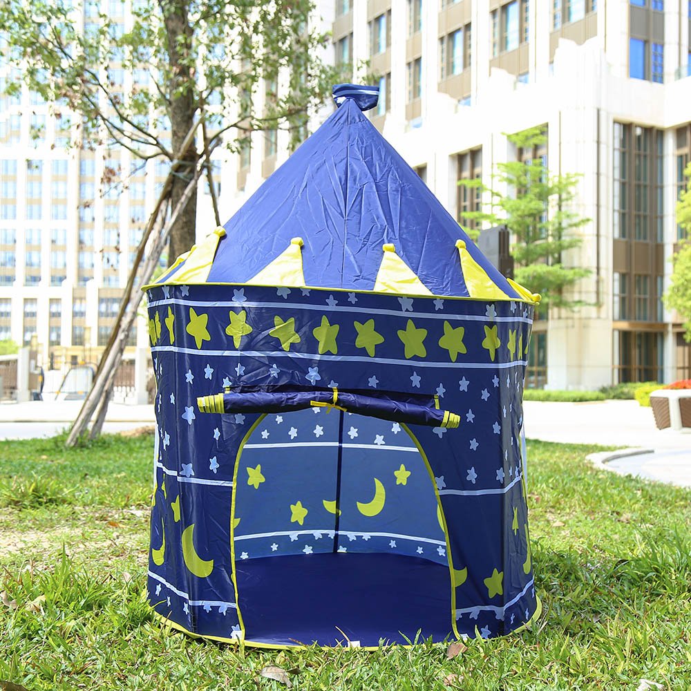 3 Colors Play Tents Portable Folding Tipi Prince Foldable Tent Baby Children Boys Cubby Play House Outdoor Toy Tents Kids Gifts yard kids toys tents baby portable foldable cubby play playhouses for kids children teepee