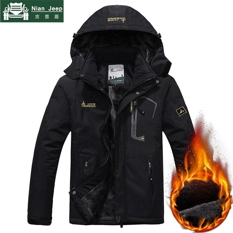 Brand Outwear Winter Parka Men Warm Windproof Plus Velet Mens Coats Military Hooded Waterproof Jackets Men's Overcoat Size L 6XL