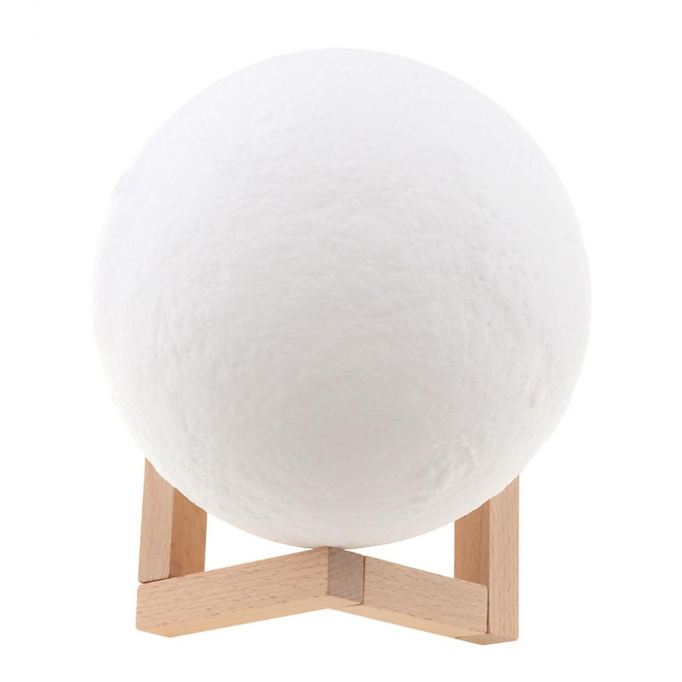 13CM 3D Rechargeable Print Moon Lamp with 7 Colors Change Pat Switch for Bedroom Bookcase Night Light Home Decor Creative Gift