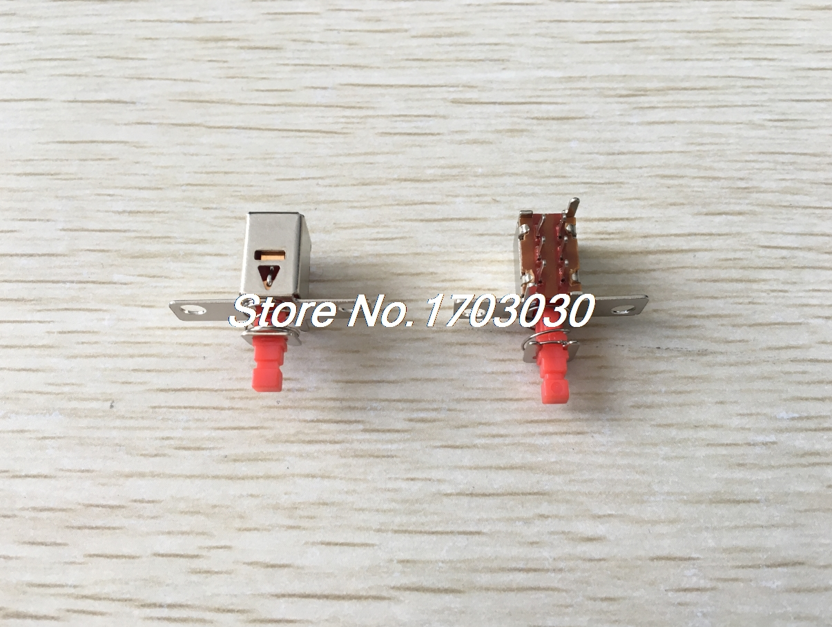 50 Pcs Panel PCB Mount Locking Uni-Direction Push Button Switch 6 Pin DPDT 2pcs pcb panel mount midi female din5 din 5 pin jack d501