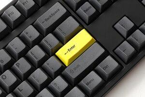 Image 3 - Kirsche profil Dye Sub Keycap Set dicken PBT kunststoff schwarz gelb gentleman für gh60 xd64 xd84 xd96 tada68 87 104 razer corsair