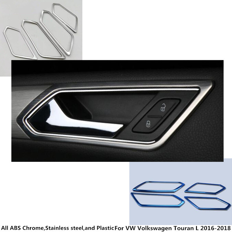 Car styling body cover stick trim stainless steel door inner handle bowl frame 4pcs For VW Volkswagen Touran L 2016 2017 2018 free shipping car body styling cover stick trim door inner handle bowl frame lamp 4pcs set for mazda cx 5 cx5 2nd gen 2017 2018