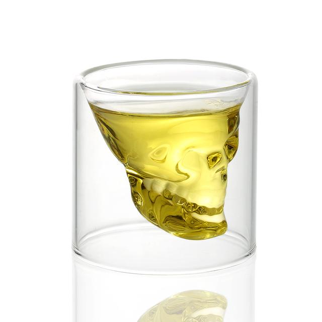 CRYSTAL TRANSPARENT SKULL GLASS