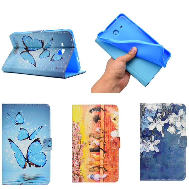 Silicon Back PU Leather Case for Samsung Galaxy Tab A 7.0 inch Cover Hybrid Case for Samsung Galaxy Tab A6 7.0 T280 T285 Case