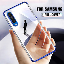 Luxury Plating TPU Silicone Soft Case On For Samsung Galaxy A50 A40 A30 A20 A10 A60 A70 A90 M10 M20 M30 Transparent Cover Case(China)