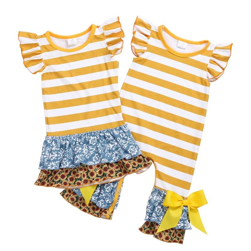 e95a34f340aa Kaiya Angel 2018 Newborn Fashion Floral Stripe Matching Baby Dress ...